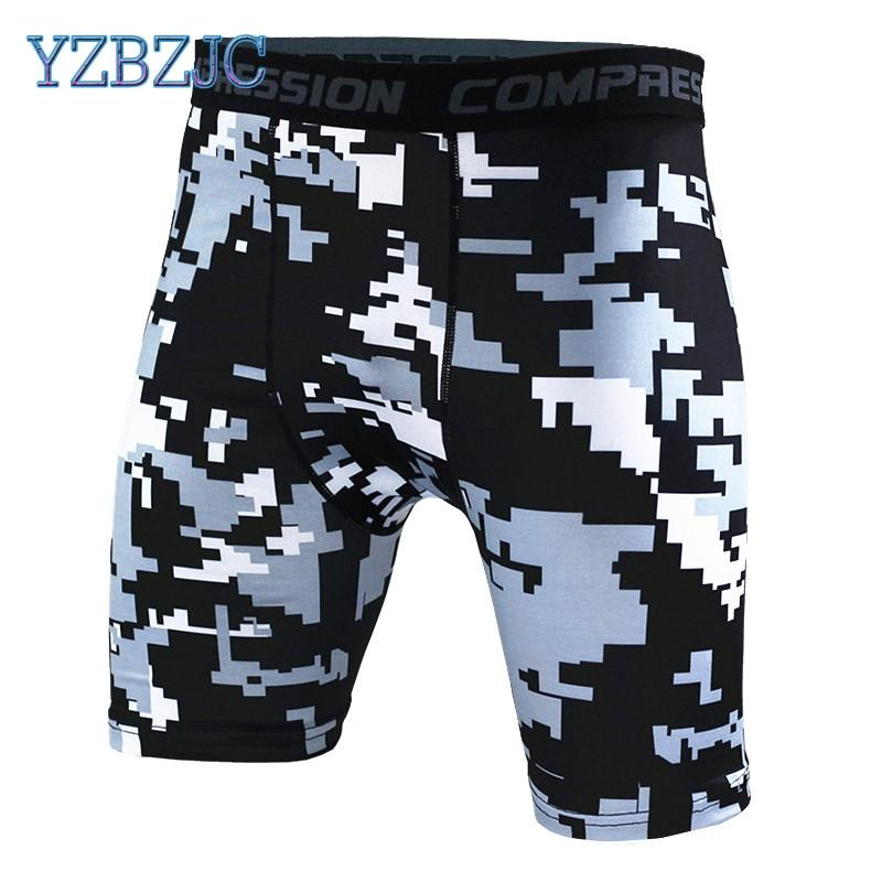 66f804ee6cf YZBZJC Mens Compression Shorts 2016 Summer Camouflage Bermuda Shorts  Fitness Men Cossfit Bodybuilding Tights Camo UK 2019 From Redbud03
