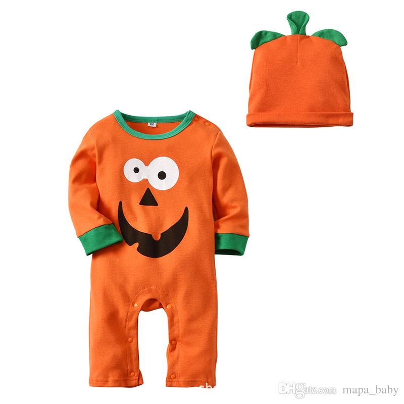 551cac3a4 2019 Halloween Rompers Baby Romper With Hat For Kids Clothes Infant ...