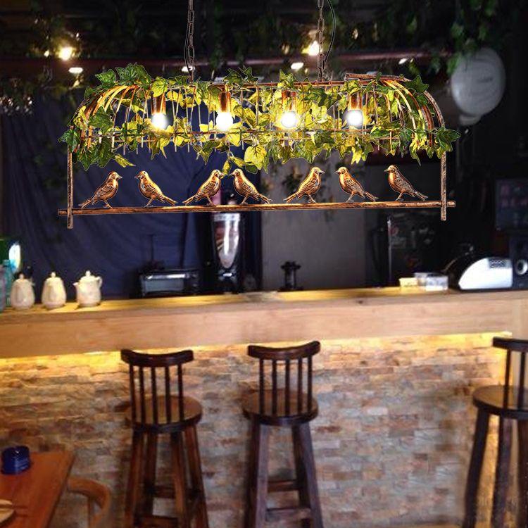 Großartig Simulation Grüne Pflanzen Kronleuchter Schmiedeeisen Kronleuchter Musik  Bars Bar Kronleuchter Café Dekorative Lichter Von Glistenlight, $126.64 Auf  De.