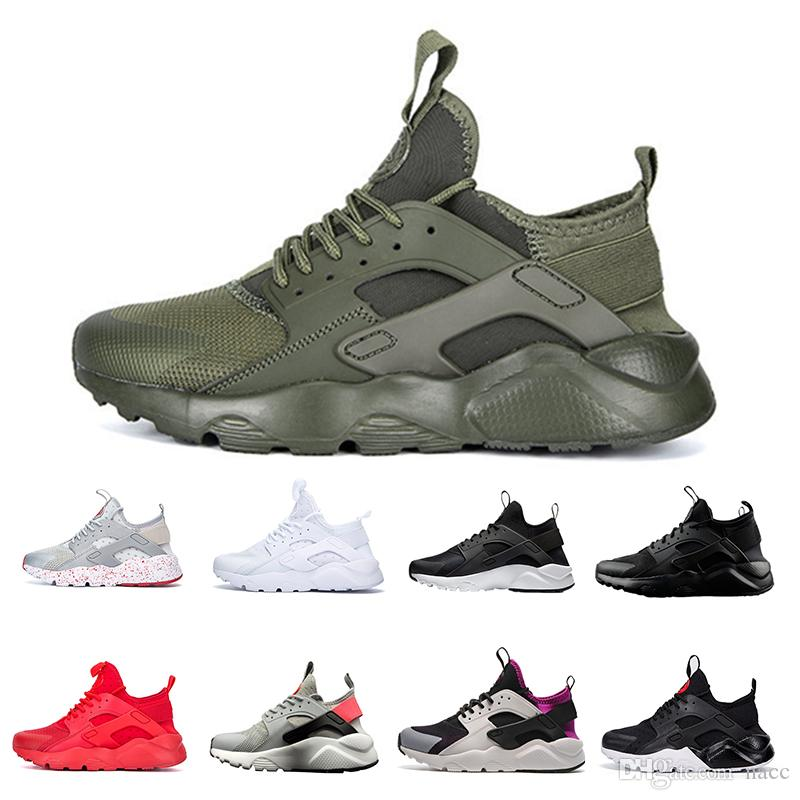 46a16acd9ad6 2019 2018 New Huarache IV Ultra Running Shoes Huraches Trainers For Men And Women  Multicolor Shoes Triple Huaraches Sneakers From Nacc