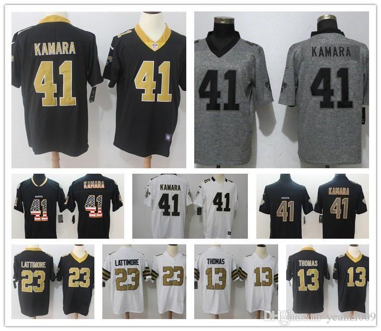 41 Alvin Kamara New Orleans 9 Drew Brees Jersey Mens Saints 23 ... 50bd6c0f3