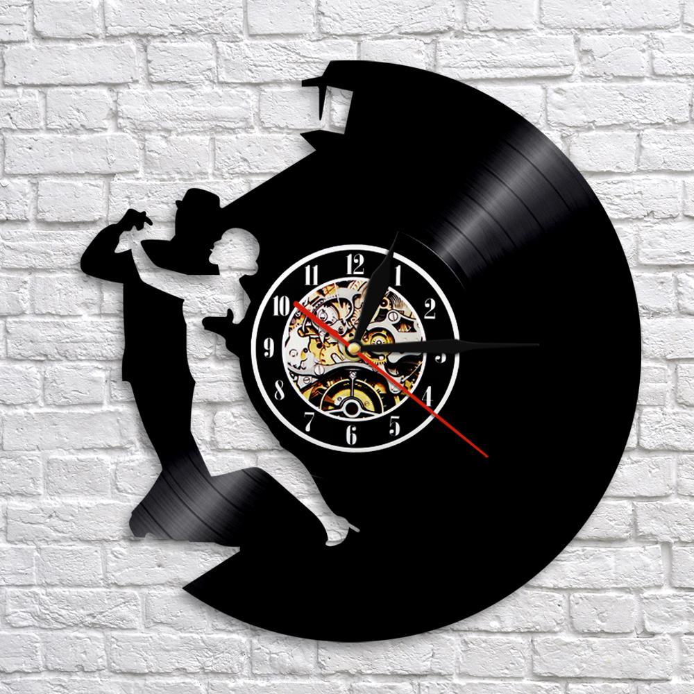 Rockabilly Kitchen Decor: Waltz Dance Vinyl Wall Clock Dancing Art Wall Decor Music