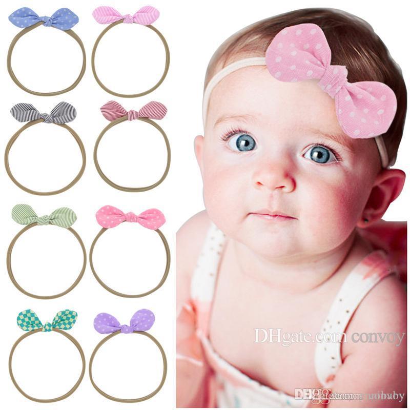 Großhandel Baby Stirnbänder Elastic Traceless Nylon Haarbänder ...