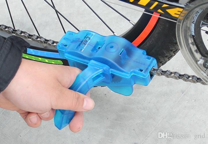 Pulitore della catena della bicicletta Pulitore della macchina la pulizia della bicicletta Spazzola la pulizia della lavatrice Strumento la pulizia della catena della mountain bike MTB