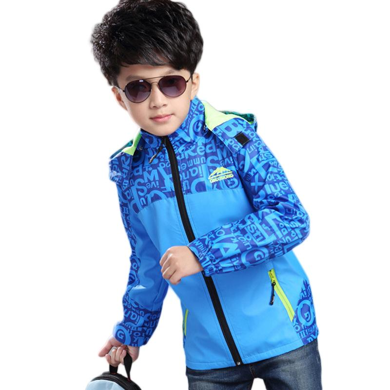 a9a2480bb Children Boys Jacket Casual Coat Kids Windproof Jacket Boy Coats Kid ...
