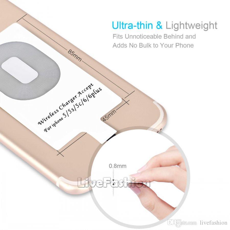 Qi Wireless Charger Aufladen Empfänger Modul Aufkleber Ladeadapter für iPhone X 7 5 5C 5S 6 6S Plus für Samsung Android iPhone Universal