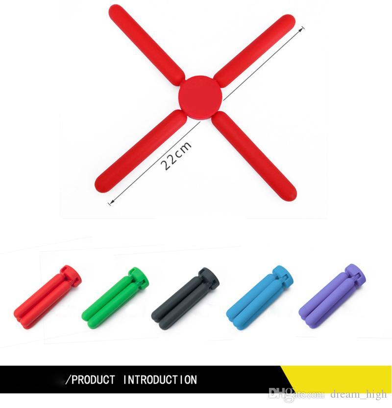Silicone dobrável Tapete de Isolamento Térmico Para Panelas de Barras Anti-Skid Mesa de Jantar Placemats Pads Cozinha Ferramentas FDA