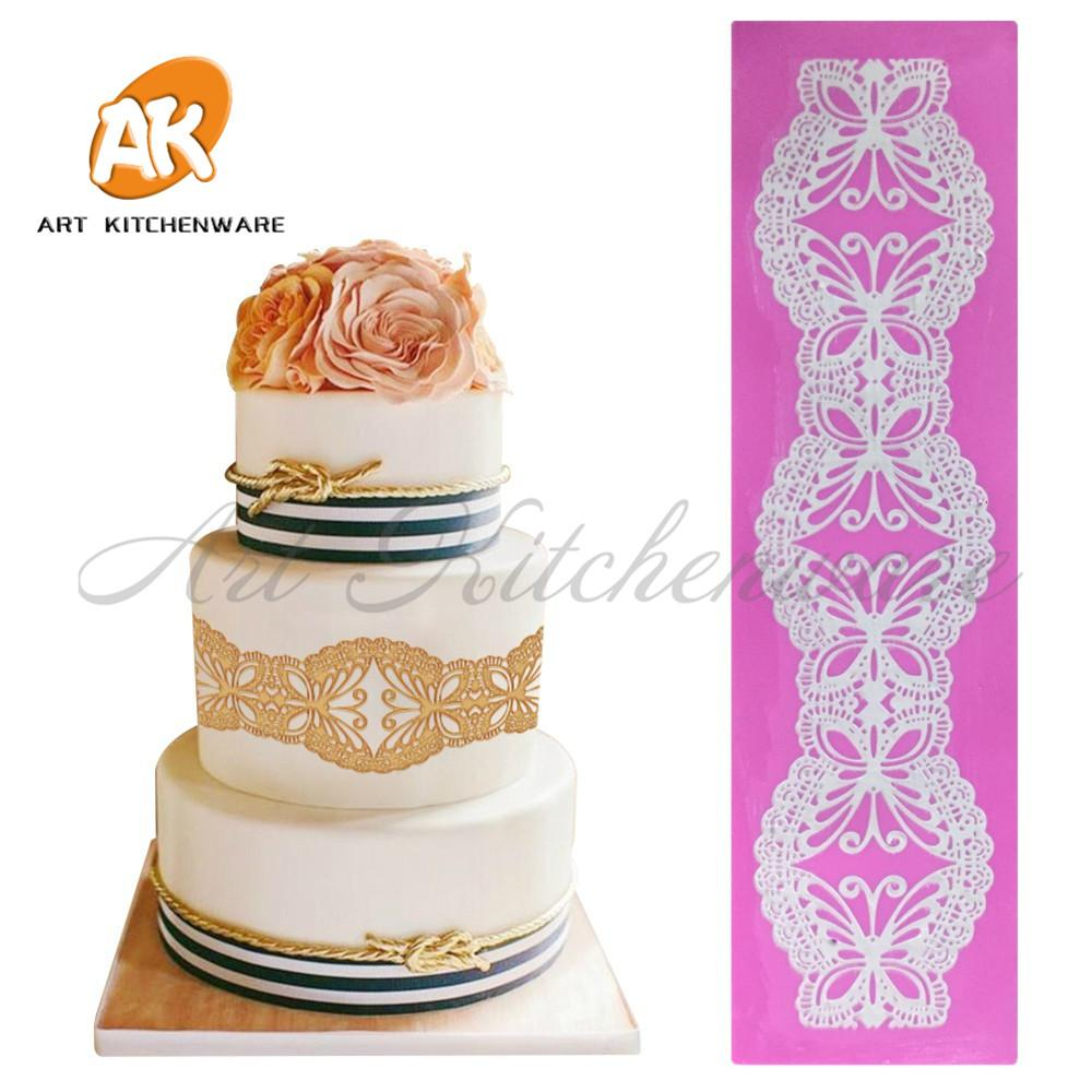 2018 Butterfly Silicone Mold Cake Lace Mats Mold Silicone Lace Mat ...
