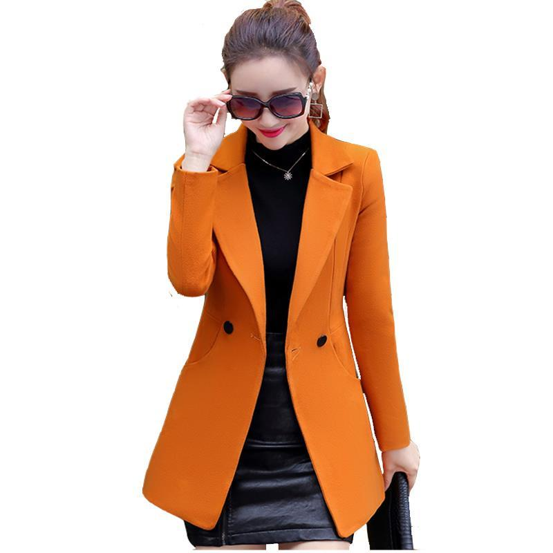 62131f1899b0 2019 Hot Lady Basic Coats Fashion EleVintage Winter Casual Formal Woolen  Overcoat Coat Winter Jacket Women Top Gray Gold Camel From Lookpack, ...