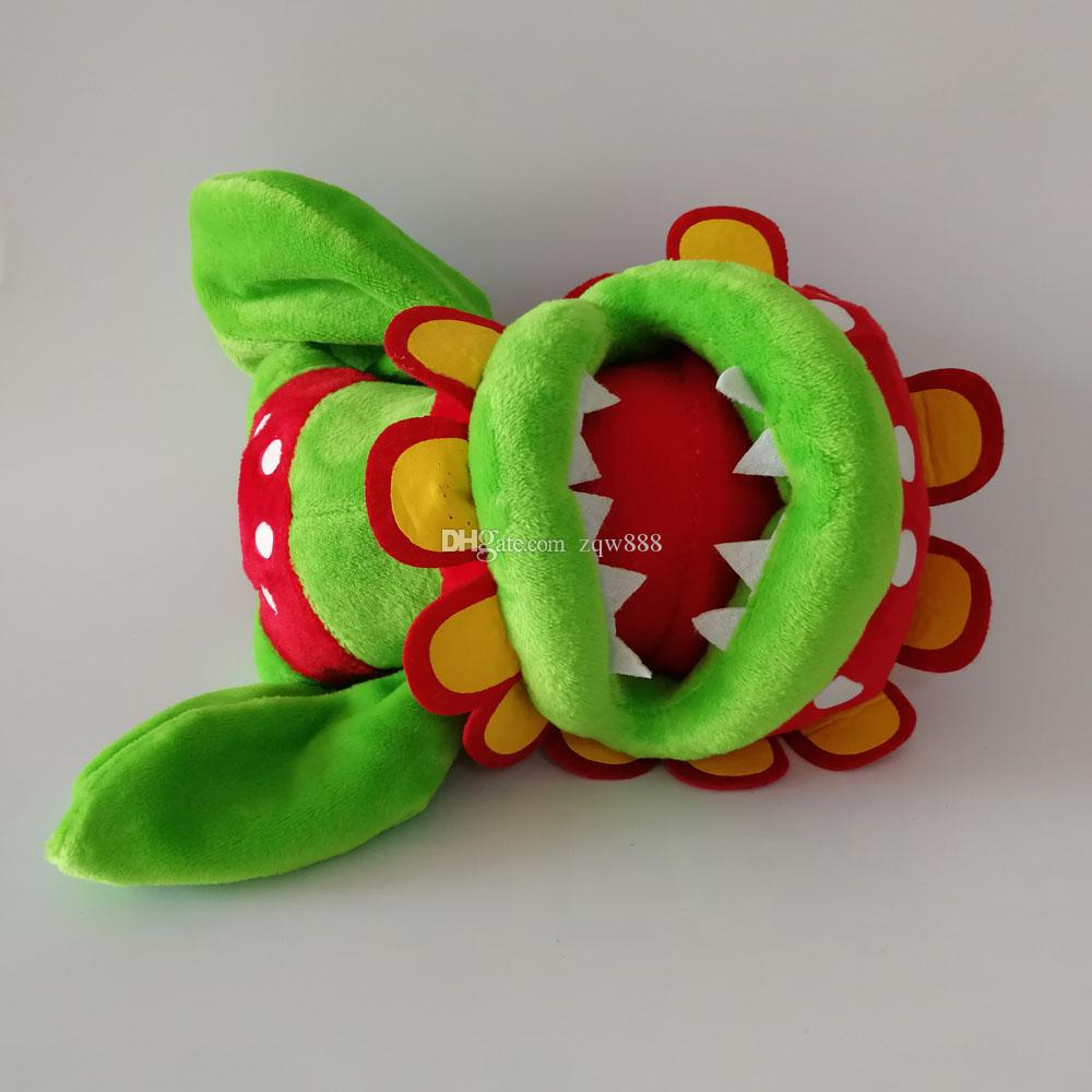 "New Super Mario Bros Petey Piranha Corpse Flower Soft Toy Plush Doll Collection & For Kids Holiday Best Gift  Size: 7"" 18cm"