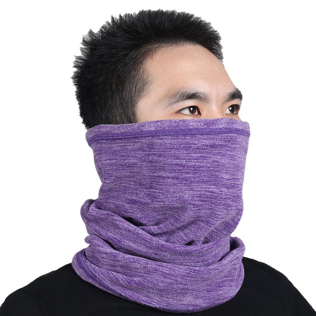 12d9292b1 Multifunction Wool Fleece Thermal Neck Gaiter Warmer Tube Face Mask  Snowboard Balaclava Scarf Hats Cap Headband Bandana Headwear