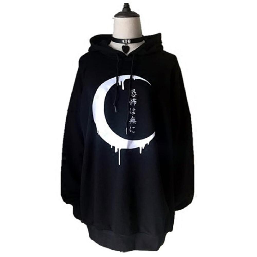 2019 Rosetic Goth Women Sweatshirt Black Hoodies Punk Long Sleeve Hoodies  Women Crop Top Hoodie BF Style Coat Dark Rock Jackets From Synthetic 58b611d82