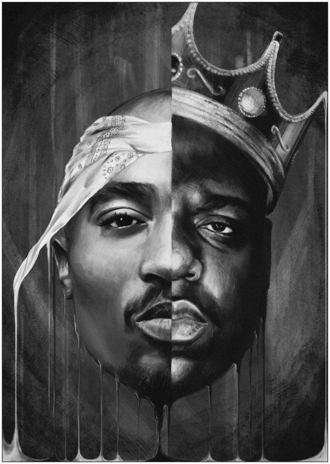 2Pac Black White