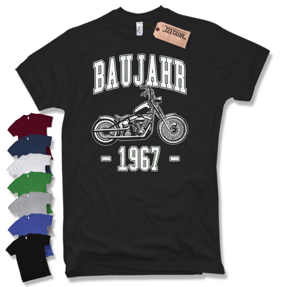 Baujahr 1967 T Shirt 50 Geburtstag Biker Motorrad Geschenk Schrauber