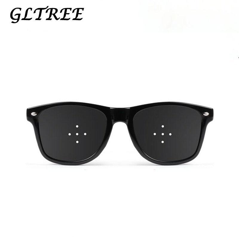 5fd8da4389 GLTREE 2018 Child Pin Hole Glasses Protect Eyes Anti-myopia Women Men  Children Eyesight Natural Healing Vision Sunglasses G129 Sunglasses Cheap  Sunglasses ...