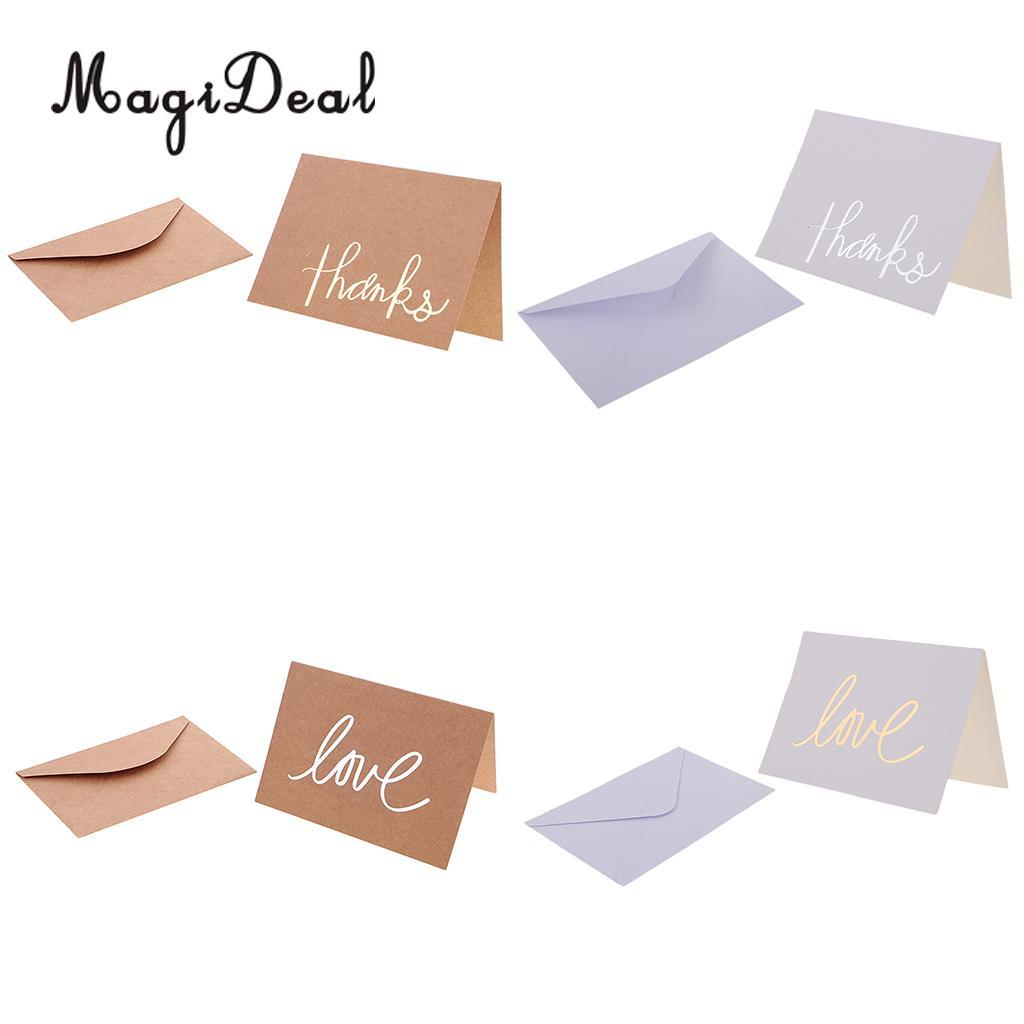 12kraft Paper Cards Blank Wedding Thank You Card Greeting Cards With