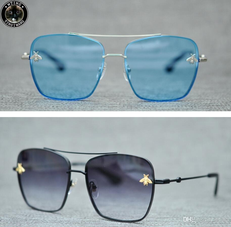 Großhandel Large Frame Sonnenbrille Bee Gläser Linsen Mode ...
