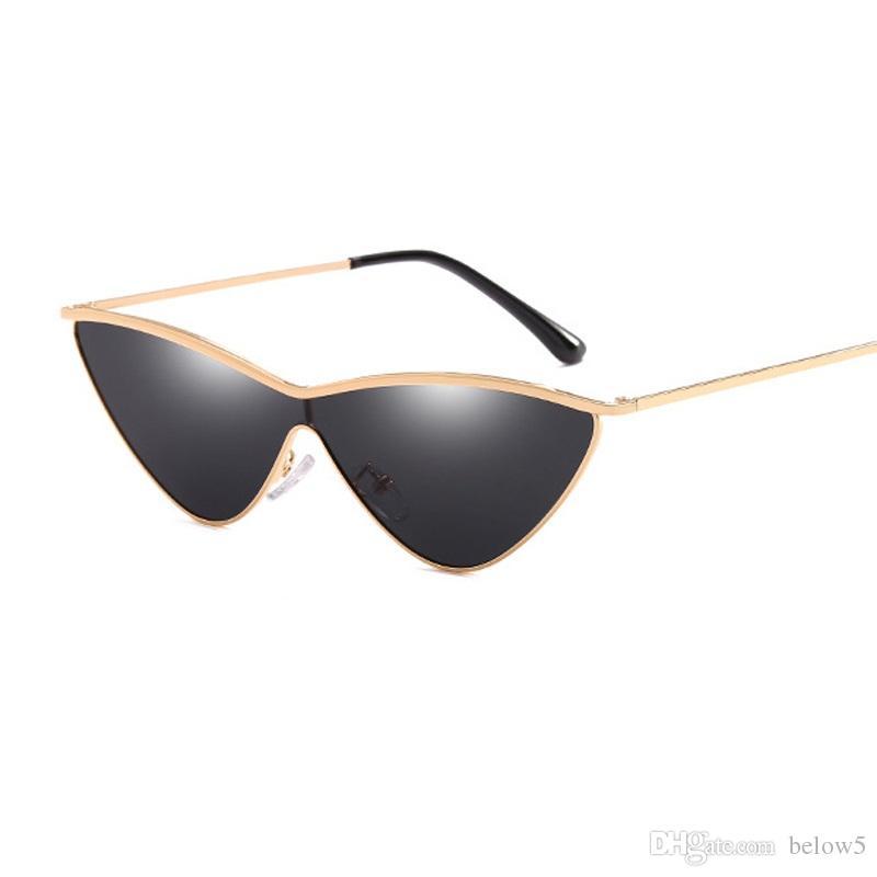 8d6b761939b 2018 Cat Eye Sunglasses Women Small Black Triangle Vintage Sun ...