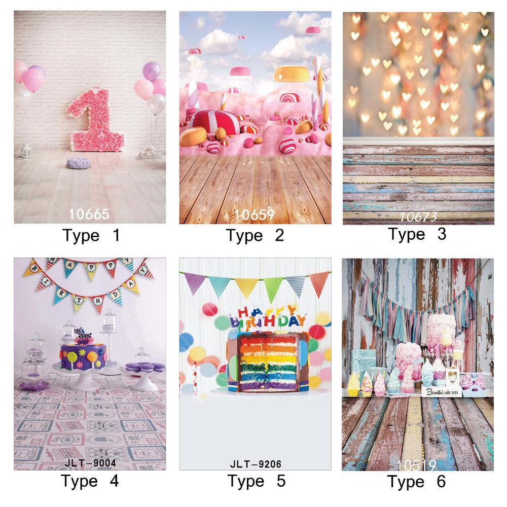 Grosshandel Fotografischen Hintergrund 1 Geburtstag Kuchen Candy
