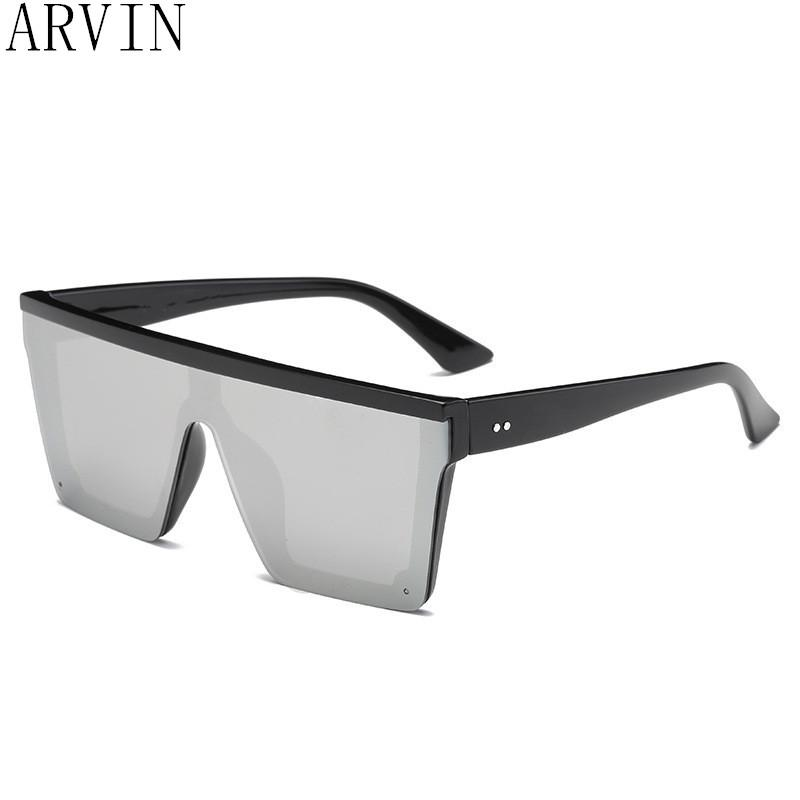 adcddb964a41f Oversized Flat Top Sunglasses Women Luxury 2018 Unique Mens Sun Glasses  Brand Designer Shield Sunglasses Large Square Shades Wholesale Sunglasses  Cool ...