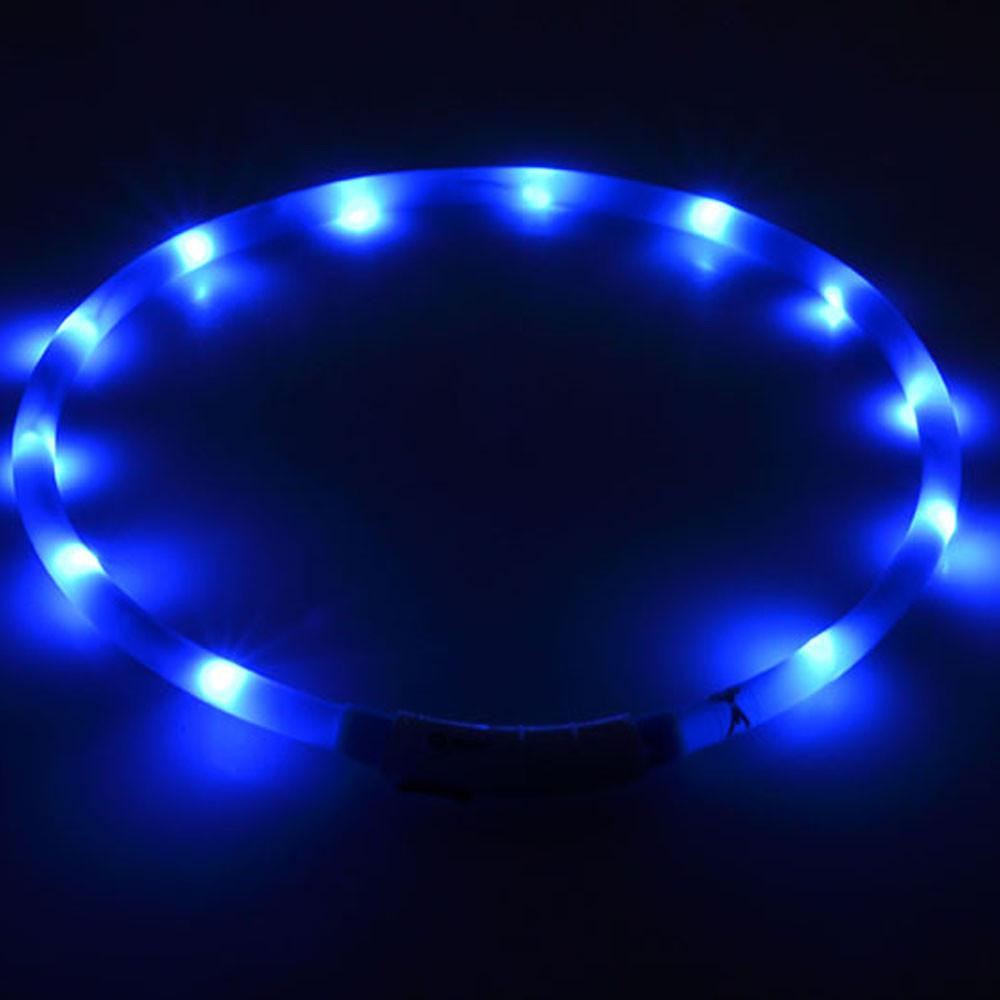Luminous Dog Training Collar Adjustable Size USB Practical Rechargeable LED Flashing Light Band Belt Safety Pet Dog Collar S/M/L