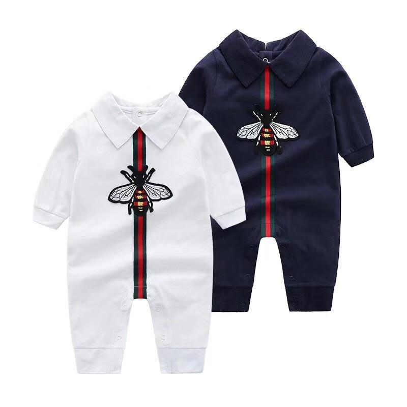 7102c36621b6 2018 Spring And Autumn Baby Round Neck Long-sleeved Jumpsuit Two ...