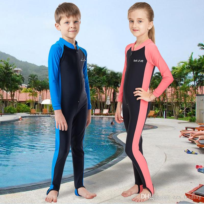 07a33d0067e6e 2019 New Quality Kids Surfing Wetsuits For Boy/Girls Surf Wear Swimsuit  Cute Children Diving Suit With Uv Protection Swimwear Soft Small Fresh From  ...