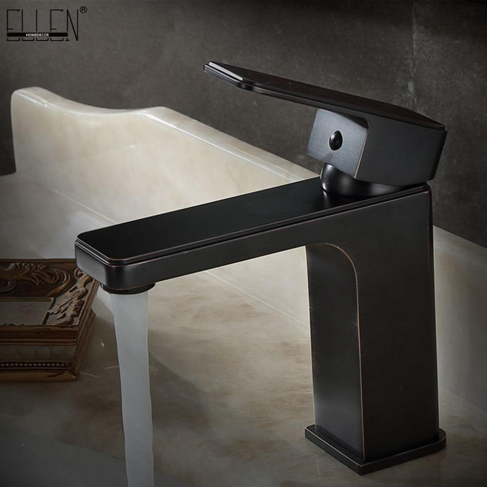 Square Faucet Bathroom Sink Faucets Hot And Cold Water Mixer Tap Oil ...