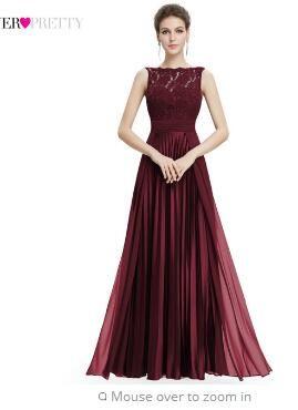39adc0c27 Compre Ever Pretty Vestidos De Noche Magnífico Formal Cuello Redondo De Encaje  Largo Sexy Rojo Partido De Las Mujeres 2018 EP08352 Ocasión Especial Vestido  ...