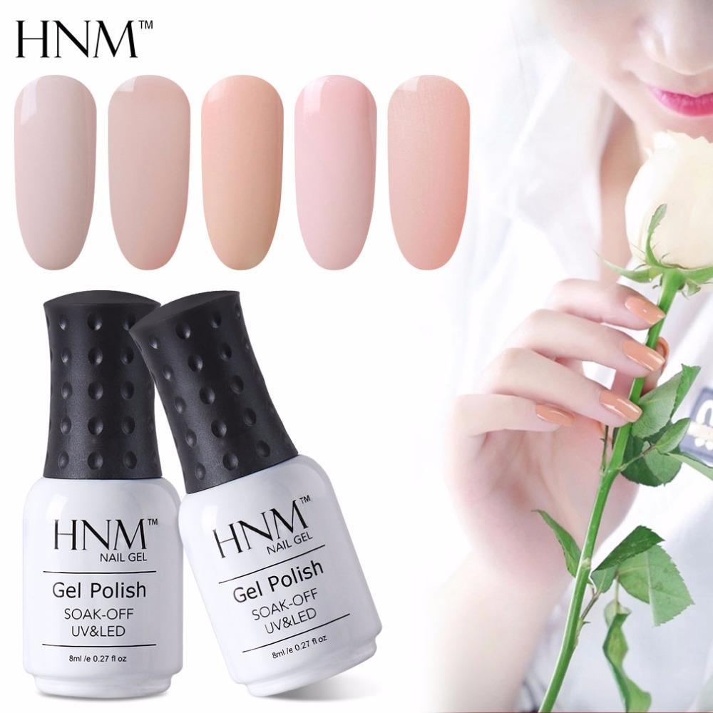 Hnm Light Color 8ml Gel Nail Polish Hybrid Semi Permanent Polish Uv ...