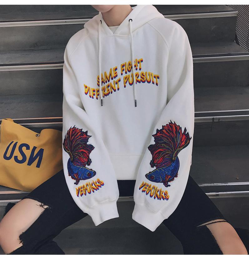 bb567a0ea0510 2019 The Autumn Sweater Hooded Man Coat Long Sleeved Loose BF Ulzzang  Korean Tide Wind Students Boy Winter Clothes From Peisi