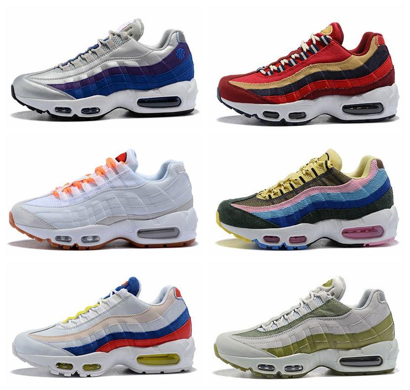 sports shoes 34b55 a48c7 Compre 2018 Nike Sean Wotherspoon X Air Max 95 TT Wmns Zapatillas Para  Correr Mujeres Zapatillas Para Hombre Zapatillas Zapatos 95s Ultra SE Vivid  Sulphur ...