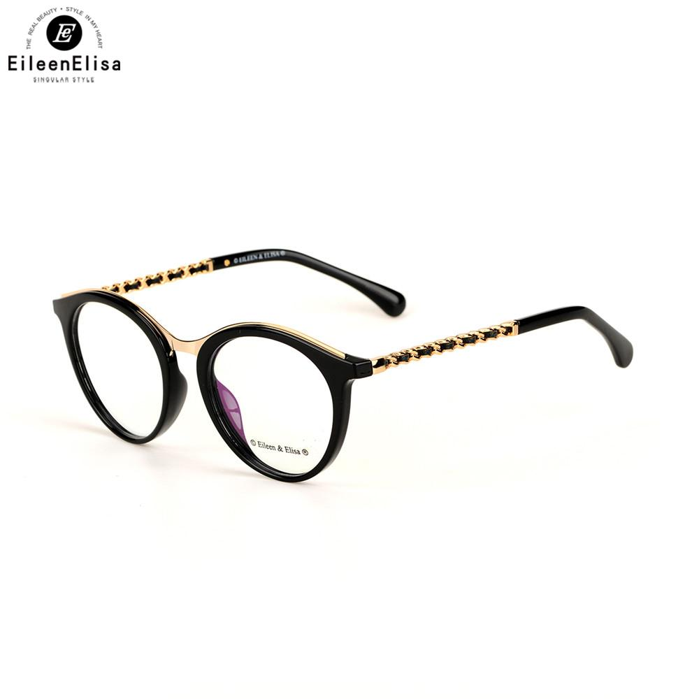a2a947416d03e Compre EE 2017 Retro Rodada Óculos De Armação Mulheres Designer De Marca De  Moda Óptica Do Vintage Eye Glasses Frames Computador Eyewear Oculos De  Milknew, ...