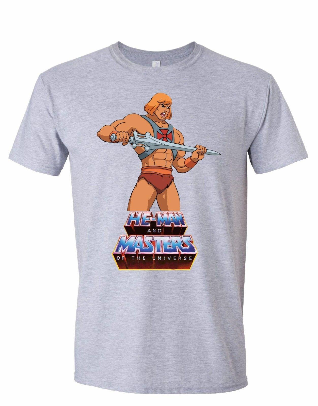65d658f6a He Man Masters Of The Universe Retro T Shirt Mens Top 80'S Cartoon Classic  Grey Funny Casual Tee Themed Shirts Latest T Shirts Design From Fatcuckoo,  ...