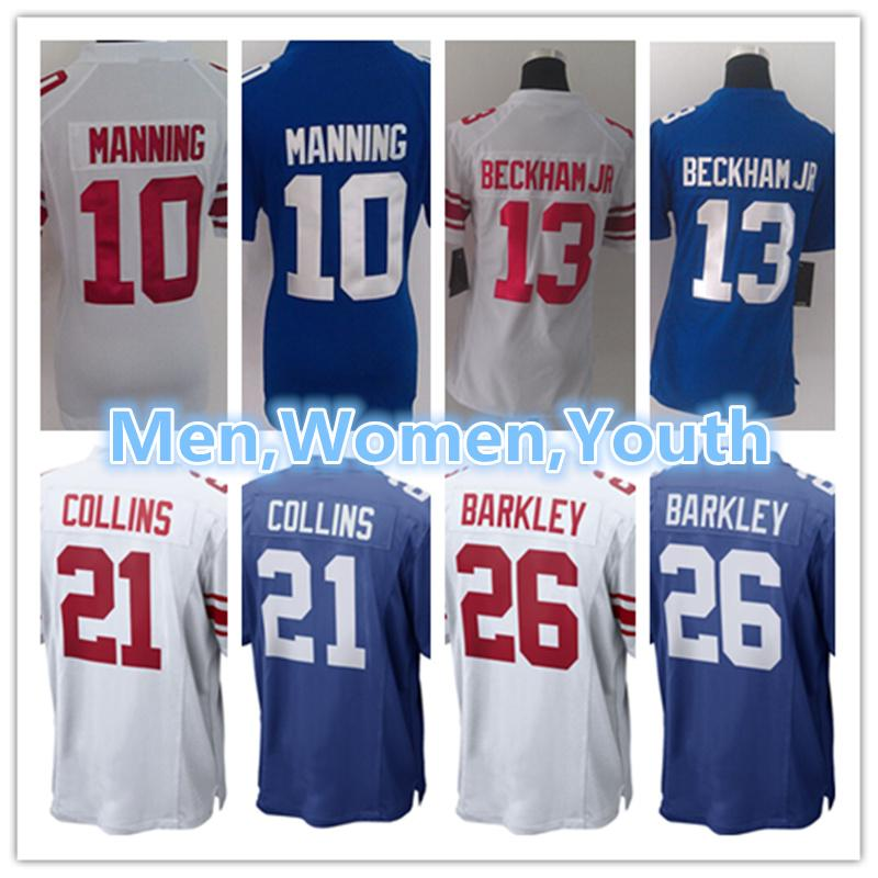 3c76724f6 2018 Men Women Youth New York Jersey Giants 10 Eli Manning 13 Odell Beckham  Jr.56 Lawrence Taylor 26 Saquon Barkley American Football Jerseys From ...