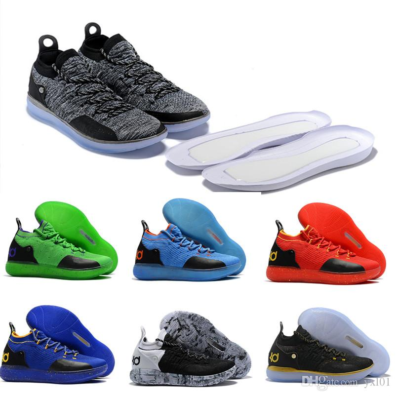 2018 Best Quality Zoom XI KD 11 Basketball Shoes KD11 Oreo Black Gold  Yellow MenS Kevin Durant 11s Trainers Designer Sneakers Size 7 12 Shoes  Canada ...