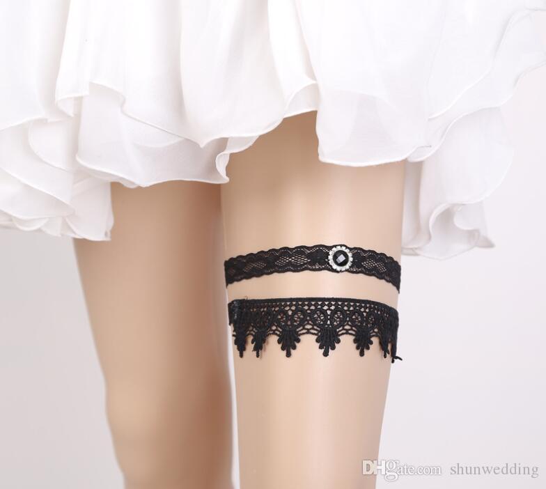 1efb7f4b4 Calzedonia Meias Sexy Preto Liga De Casamento Garter Laço Nupcial Moda  Mulheres Perna Garter Set Belt Fit All Size Meias Ligas De Shunwedding