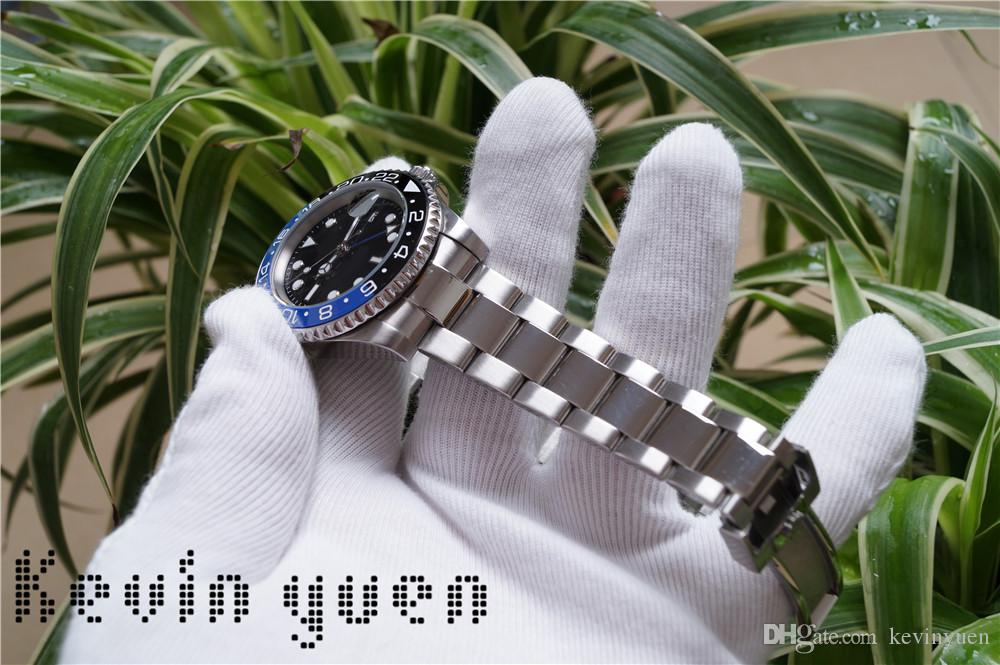 New Master Ceramic Bezel Mens Watches Glide Lock Clasp Strap Automatic Blue Black Watch Sports Crown Watch Wristwatch Orologio Reloj