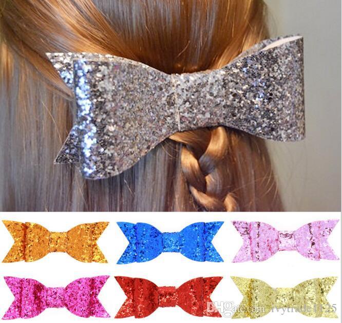 16 цветов девочка тростникового цвета большой лук заколки дизайн волосы банта клипы Дети Headwear Дети Шпилька девушка волосы младенец вспомогательного оборудование волос