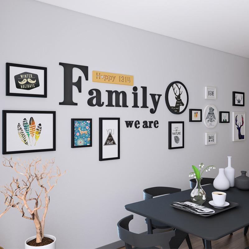 2018 New Wooden Frames For Pictures We Are Family Wall Decoration ...