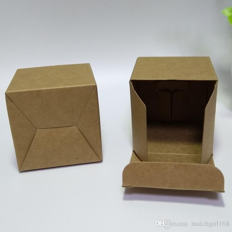 75*75*75mm Blank Kraft Paper Box for Facial cream Jewelry Candy Gift Packaging