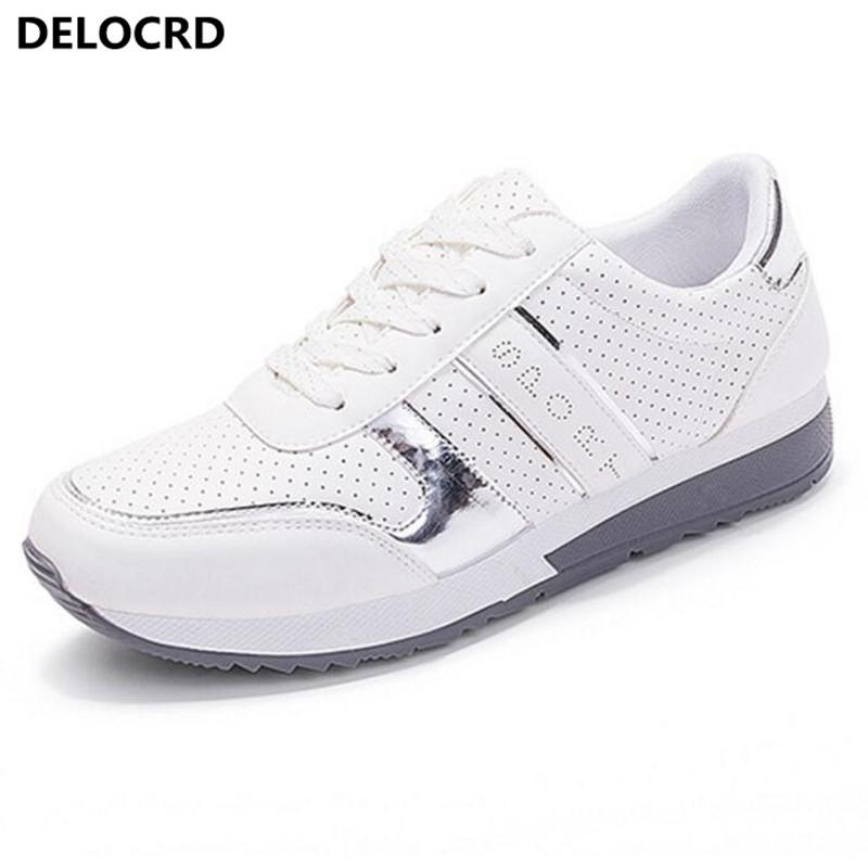 Women s Sneaker Outdoor Style Casual Shoes Wild Breathable Flat Shoes 2018  New PU Women s Fashion Wild Large Size Women s Flats Cheap Women s Flats  Women s ... fe8de02b3a51