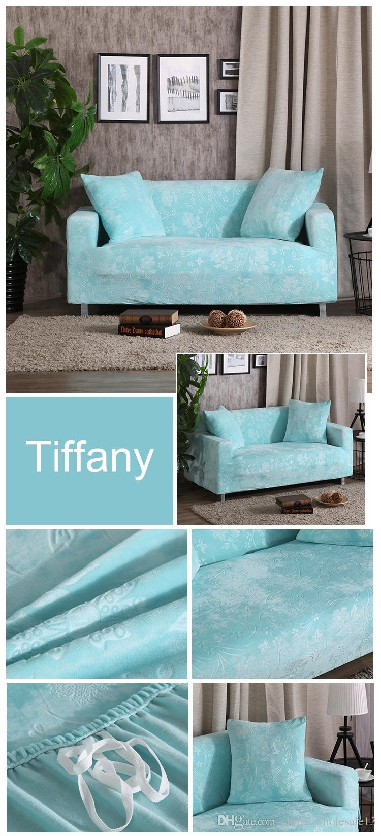 Velvet Fabric Emboss Embroidered Sofa Cover Luxury Slipcover Universal  Stretch Big Elastic Seat Couch Covers Loveseat Funitureaei 019 Slipcovers  For ...
