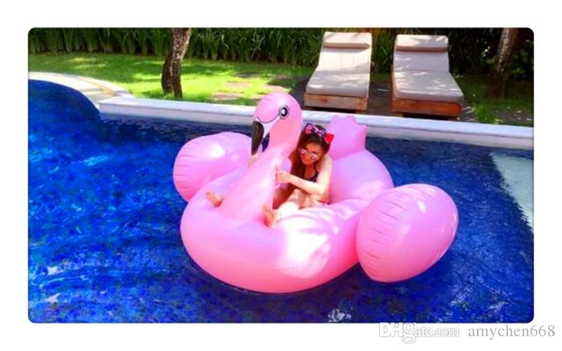 SZQY Şişme Flamingo Havuz Şamandıra Oyuncaklar 190 cm Çocuklar Yüzme Halka Daire Parti Dekorasyon Plaj Su Parti oyuncak