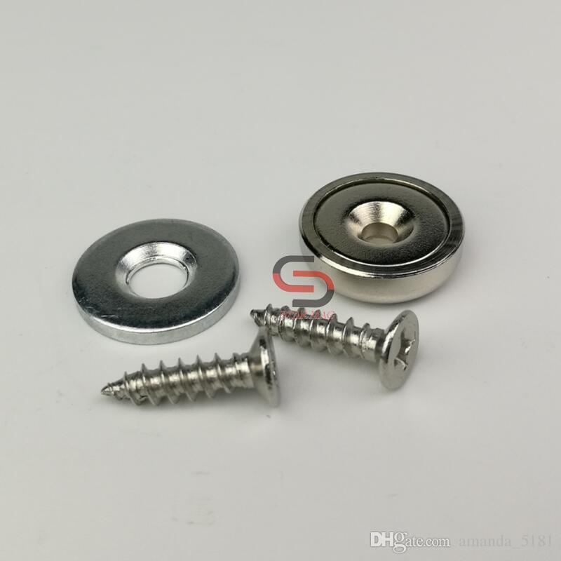 20Set Neodym-Countersunk-Magnetverriegelungskits D16mm 13KG mit  Schlag-Platten-und Schrauben-Schranktür-Möbel-Reparatur-Satz
