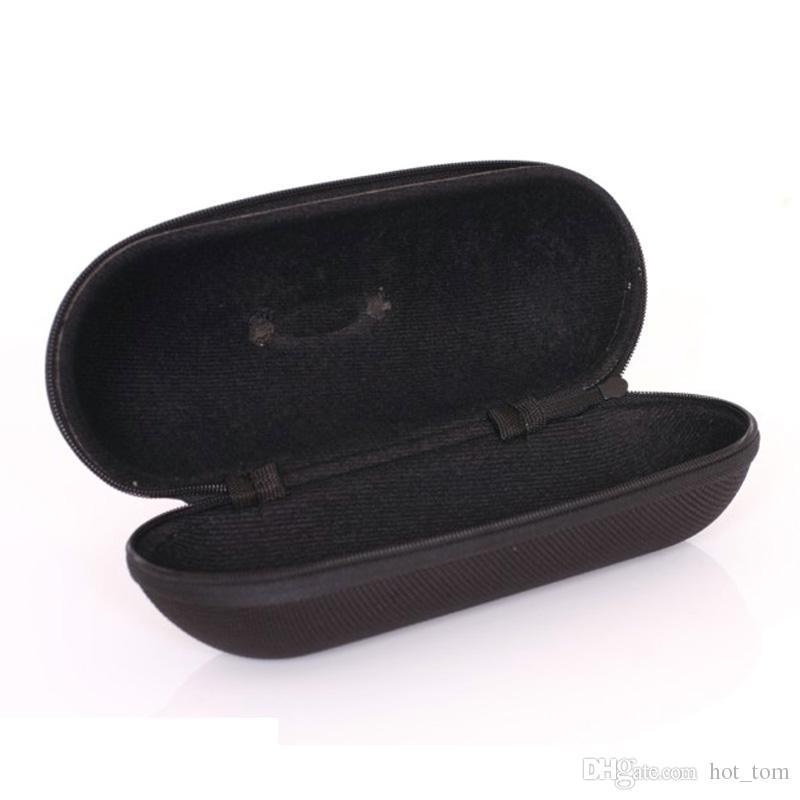 Atacado 10 pçs / lote Moda Marca Autêntica Ok Esporte Zipper Caixa De Óculos De Sol Caixa Frete Grátis