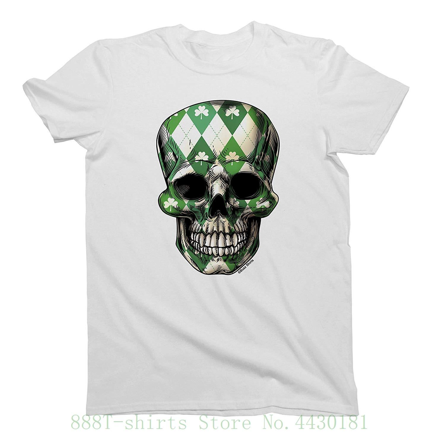 Ireland Skull Hommes From St Designs Funny Patricks Day Interesting Dames T Fashion Irish Cool Awesome By Clover Unisex Pictures Shirts Shirt wYvRFxqY