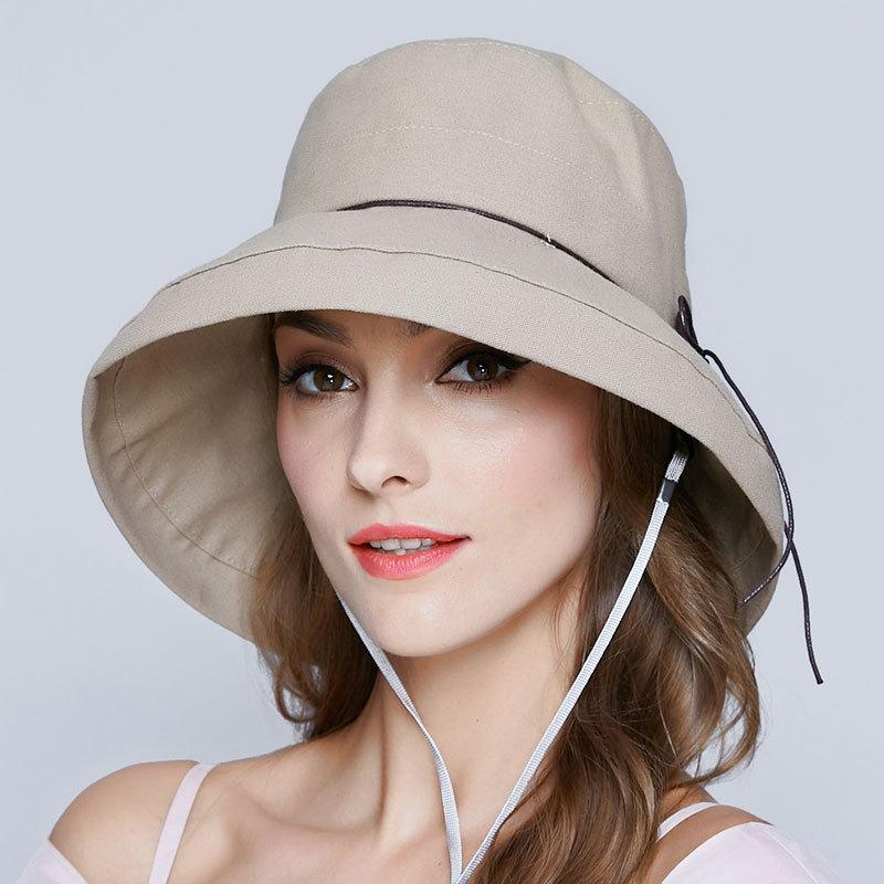 da0e84371c117 Japan Summer Leisure Fisherman Hat Lady Beach Wide Brim Wood Buckle Panama Hat  Women Good Quality Cotton And Linen Bucket Hats Mens Caps Crazy Hats From  ...