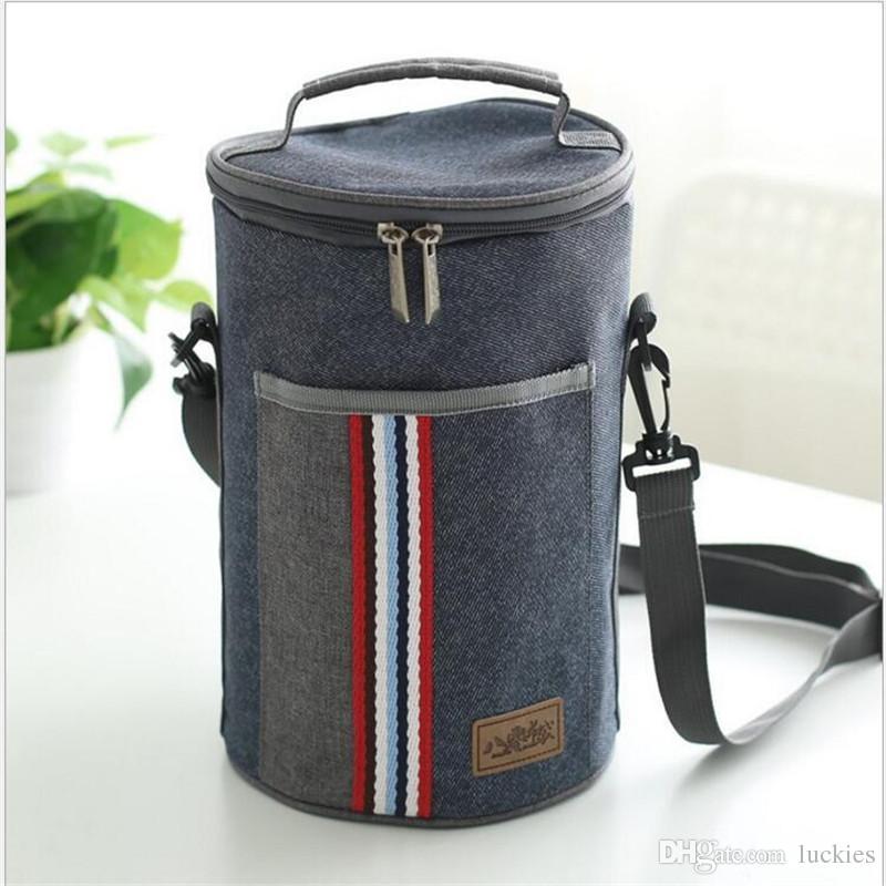 Borsa pranzo al sacco di tela termica portatile sacchetti pranzo al sacco di cibo le donne uomini bambini Cooler Lunch Box Bag Tote