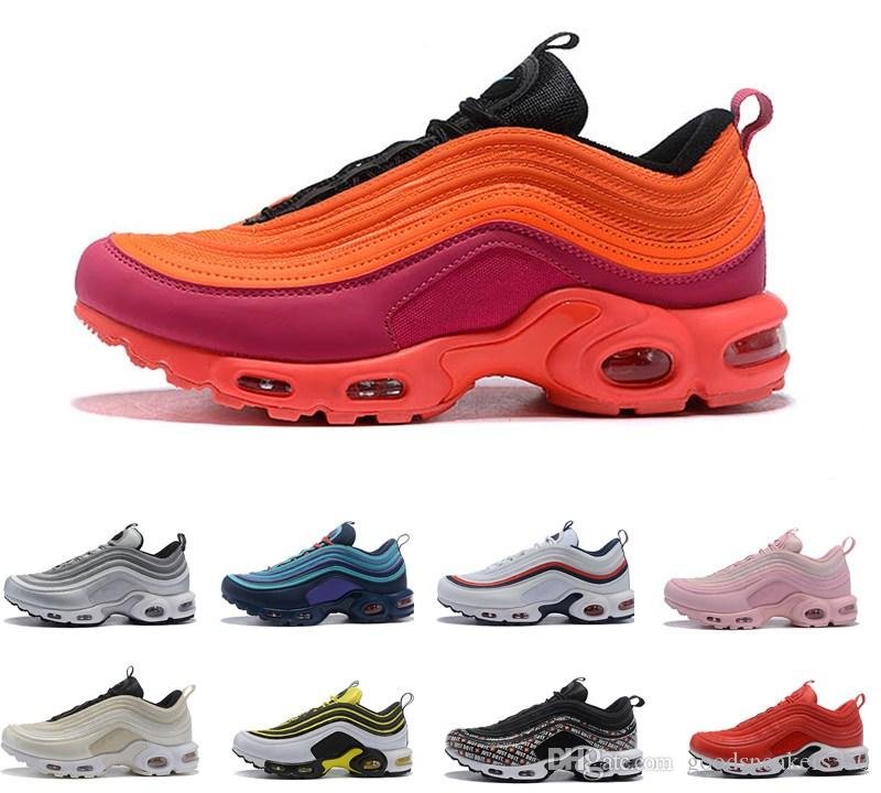 Running Plus Schuhe Schwarz Gold 97 2019 Damen Gelb Sports Größe Tn Champagne Outdoor Herren New Max Chaussure Nike Air Sneakers xoWdBCre